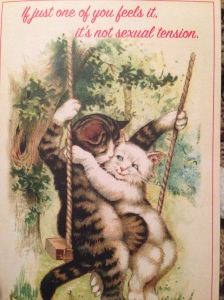 valentine galentine card cats